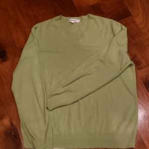 CALVIN KLEIN V NECK SWEATER LARGE